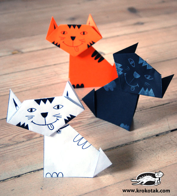 Threefast Hacer Gatos De Papel 3 Ideas